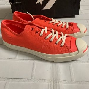Men's Converse Jack Purcell US 10 Coral Low Chucks